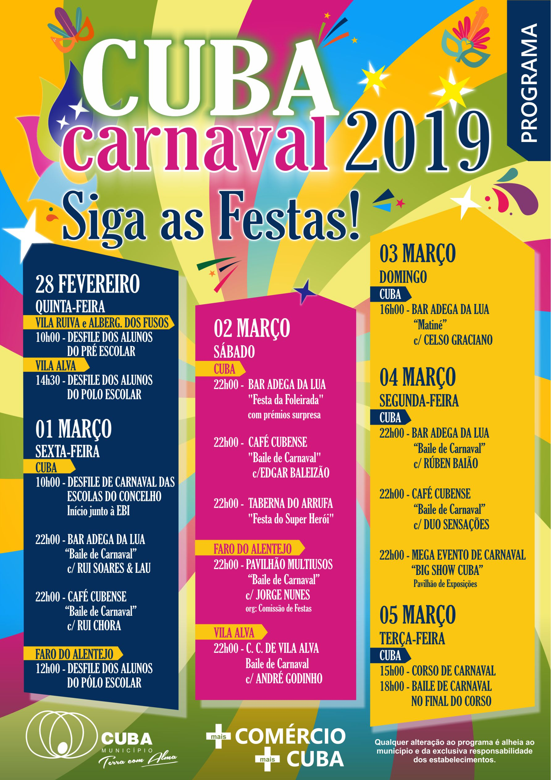CARTAZ SIGA AS FESTAS 2019