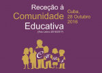 RECEÇAO COM EDUCATIVA 2016